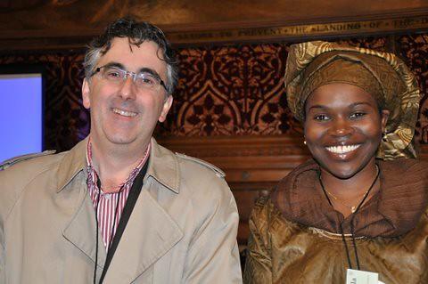 ILRI former scientist Olivier Hanotte and ILRI scientist Sheila Ommeh