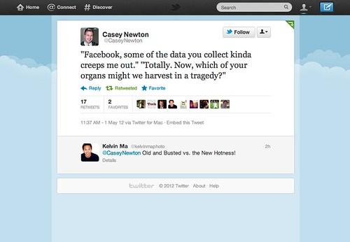 Twitter on Facebook Organ Donation