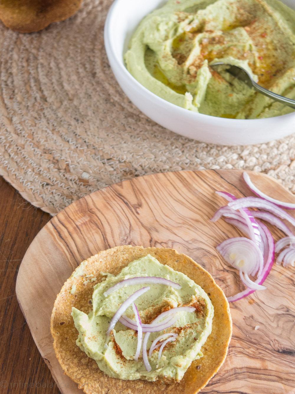 Fava Bean Hummus | www.infinebalance.com #recipe #vegan
