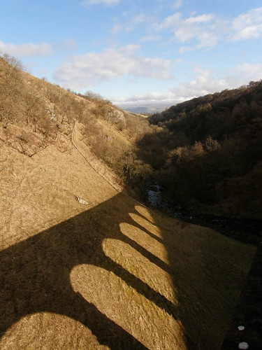 The shadow of the viaduct.