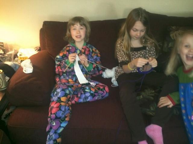 Knitting buddies!