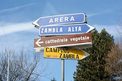 Cattedrale Vegetale signpost