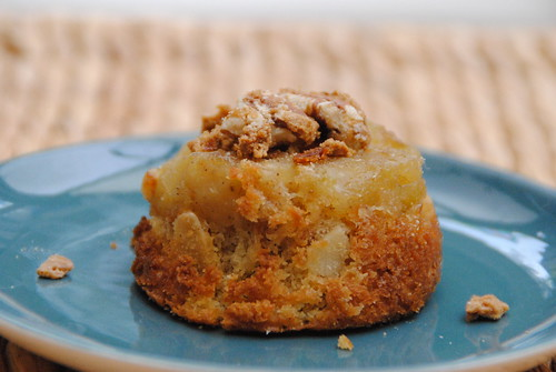 Apple and almond cake with crunchy nut topping