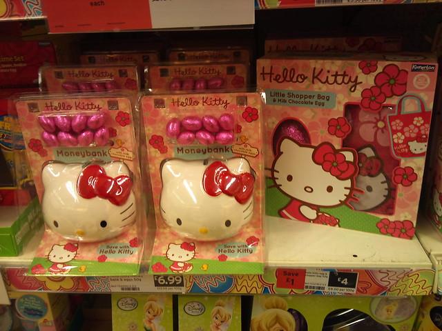 Hello Kitty Easter eggs