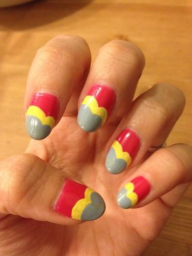 Singapore Lifestyle Blog, Beauty blog, nail blog, nail art, nailart, creative nails, nail art in singapore, millys, millys nails, beauty, Singapore blog, manicures, Retro nails, nails, Scallop nails