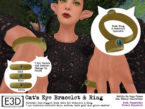 Cat's Eye Bracelet & Ring (FLUX Taxidermia)