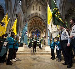 Mass for Scouts celebrated by Bishop Richard Moth,