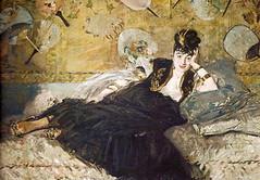Berthe Morisot à l'éventail, Manet