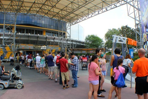 Line - Test Track at Epcot
