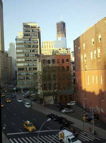 View from one of our windows. That's the new World Trade Center in the upper right.