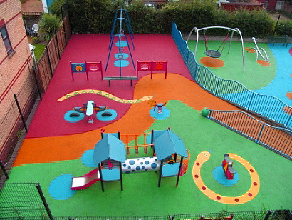 Playground Rubber Surfacing by JoGo Equipment