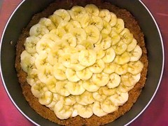 Banana layer in banoffee pie