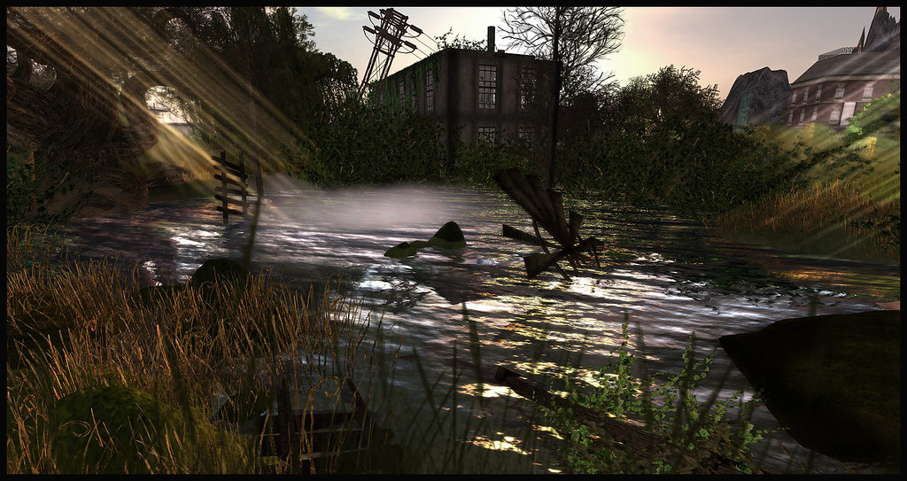 Dark, mysterious pond at Feast in Second Life