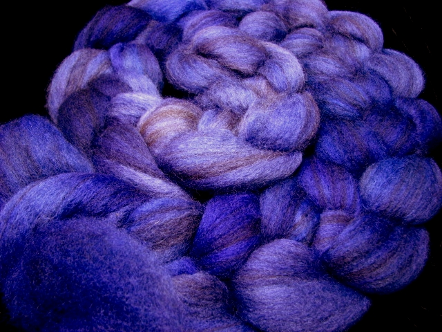 Dark Melody - Gradient Hand Dyed Mixed BFL Wool Roving