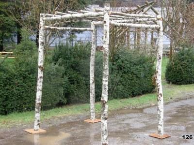 birch pergola