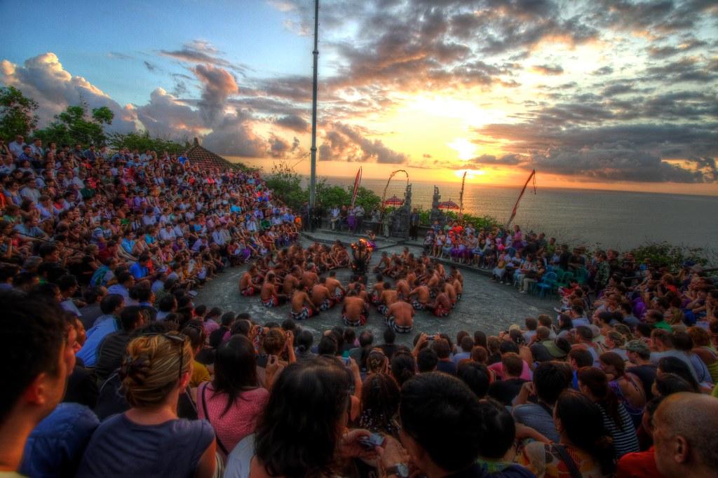 Sunset Kecak at Uluwatu Temple, Bali HDR