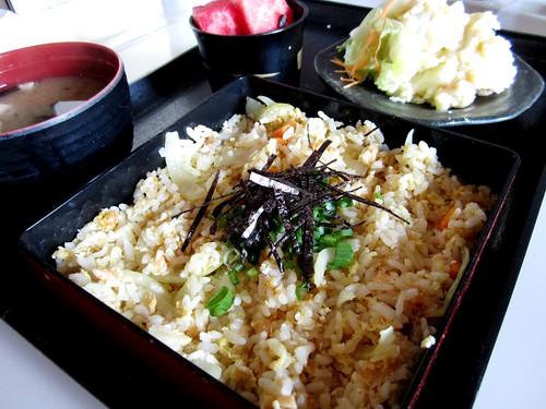 Zen, Sibu - salmon fried rice set