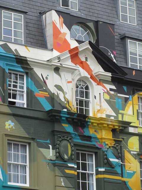 Euston Road graffiti mural