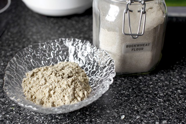 buckwheat flour with ground almonds