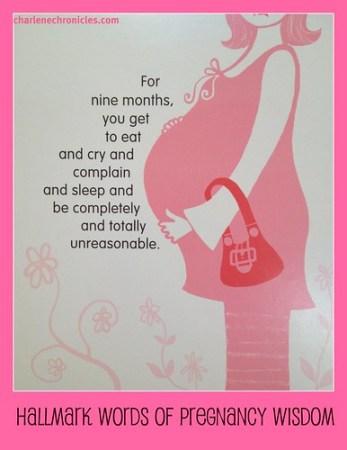 Hallmark Pregnancy Card