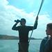Billy on the binoculars