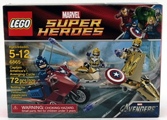 6865 Captain America's Avenging Cycle - Box Front