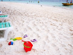 Playing by the beach, Rawa Island