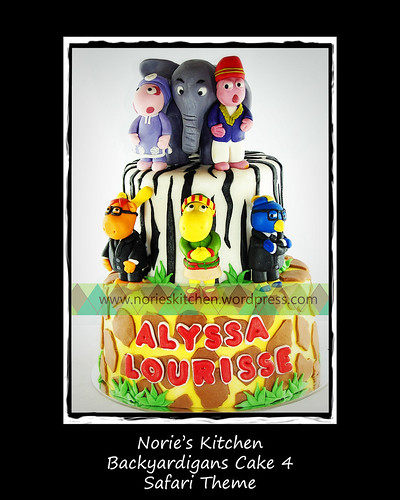 Norie's Kitchen - Backyardigans Cake 4 - Safari by Norie's Kitchen
