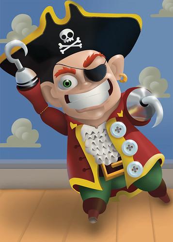 Pixar-esque Pirate