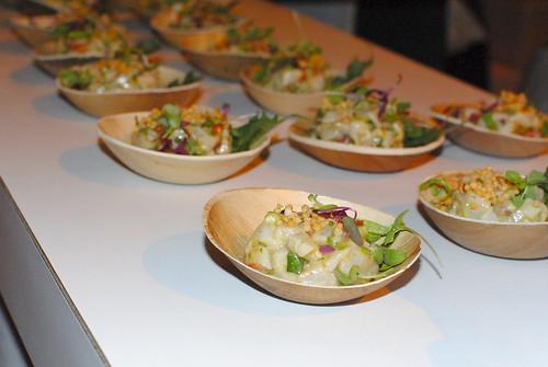 rm Seafood cobia ceviche, yuzu, grapefruit, avocado