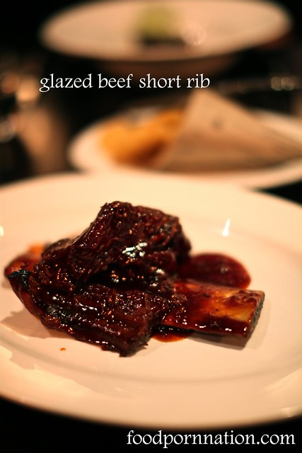 glazed beef short rib w BBQ sauce