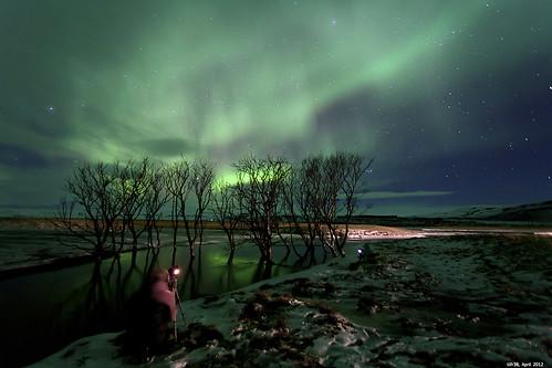 Norðurljós á Íslandi #1 - Photographers In Action by LilFr38