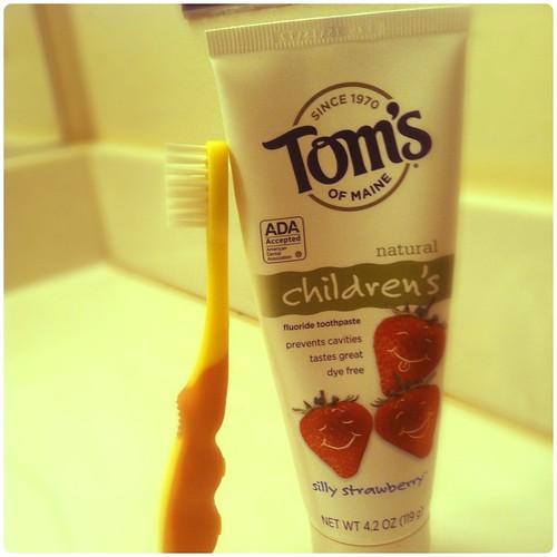 jayden's toothbrush & toothpaste