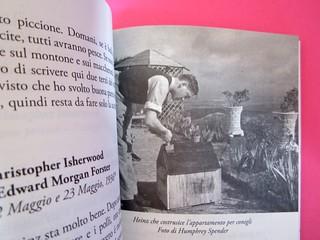 Auden, Isherwood, Spender, Il diario di Sintra; a cura di Matthew Spender e Luca Scarlini. In cop.: W.H.Auden, S. Spender, C. Isherwood, 1929. [resp. grafica non indicata]. p. 207-208 (part.), 1