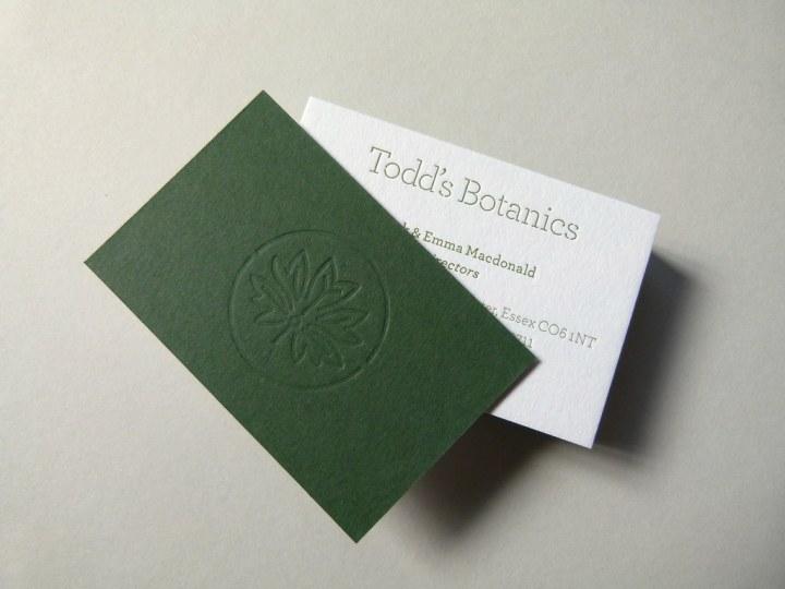Letterpress business cards printed & debossed onto 810gsm Colorplan Duplex card stock (2)