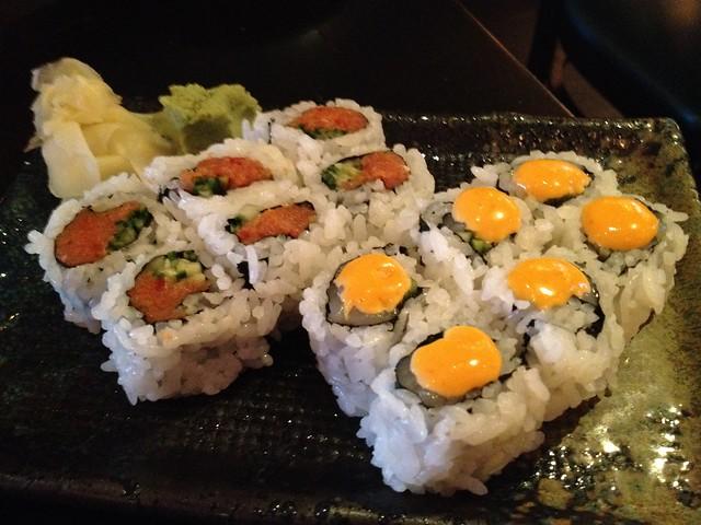 Spicy tuna & spicy scallop rolls - Barracuda Sushi