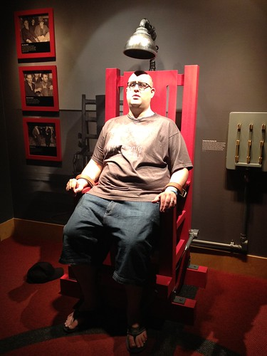 Electric chair at the Mob Museum