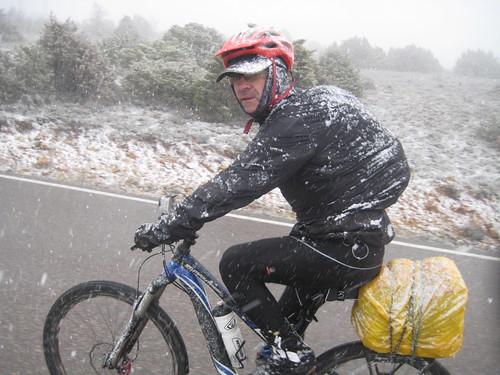 Nieve subiendo desde Maranchón