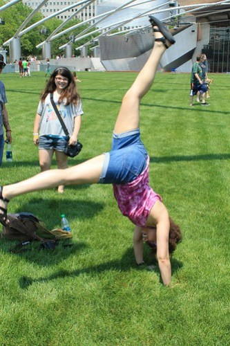 Attempting a Handstand