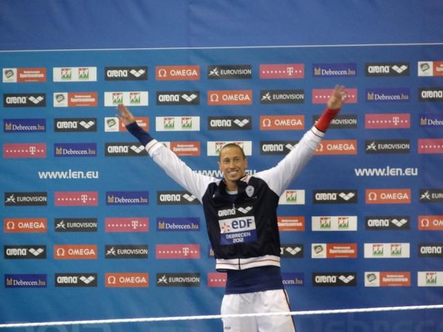 Bousquet looking mighty happy at Debrecen