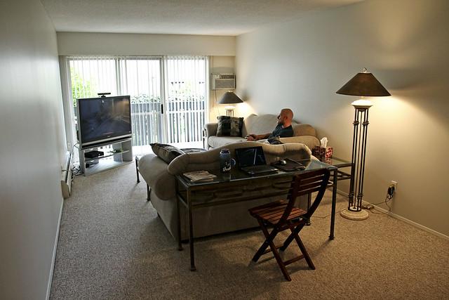 living room, set up