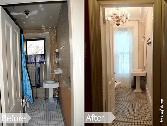 2nd floor bath before-after 1