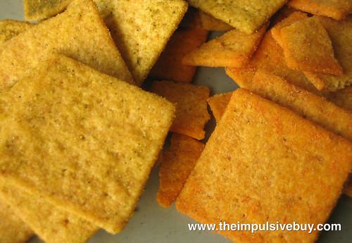 Wheat Thins (Spicy Buffalo & Zesty Salsa) Closeup