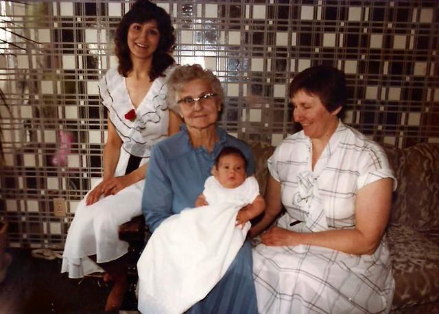 Baby Christening 4 generations