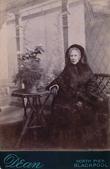 Blackpool Widow, English Albumen Cabinet Card, Circa 1880