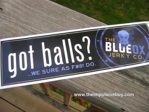 Blue Ox Beef Jerky Bumper Sticker