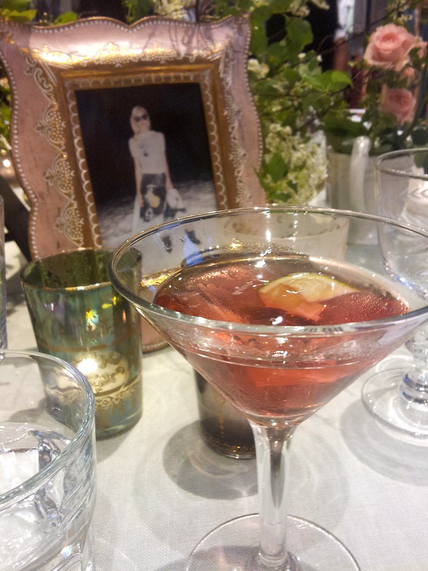 Cosmopolitan cocktail and beautiful table setting at the Diesel & SOMA Magazine S/S12 Housewarming & Dinner Party