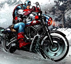Cap's Comic Book Harley (New)