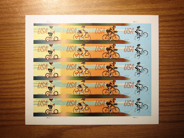 US Bike Stamps - Front