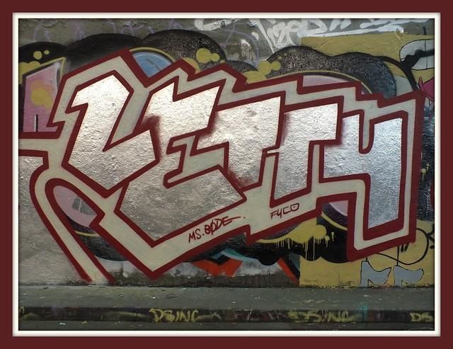 Letty at Leake Street, London graffiti